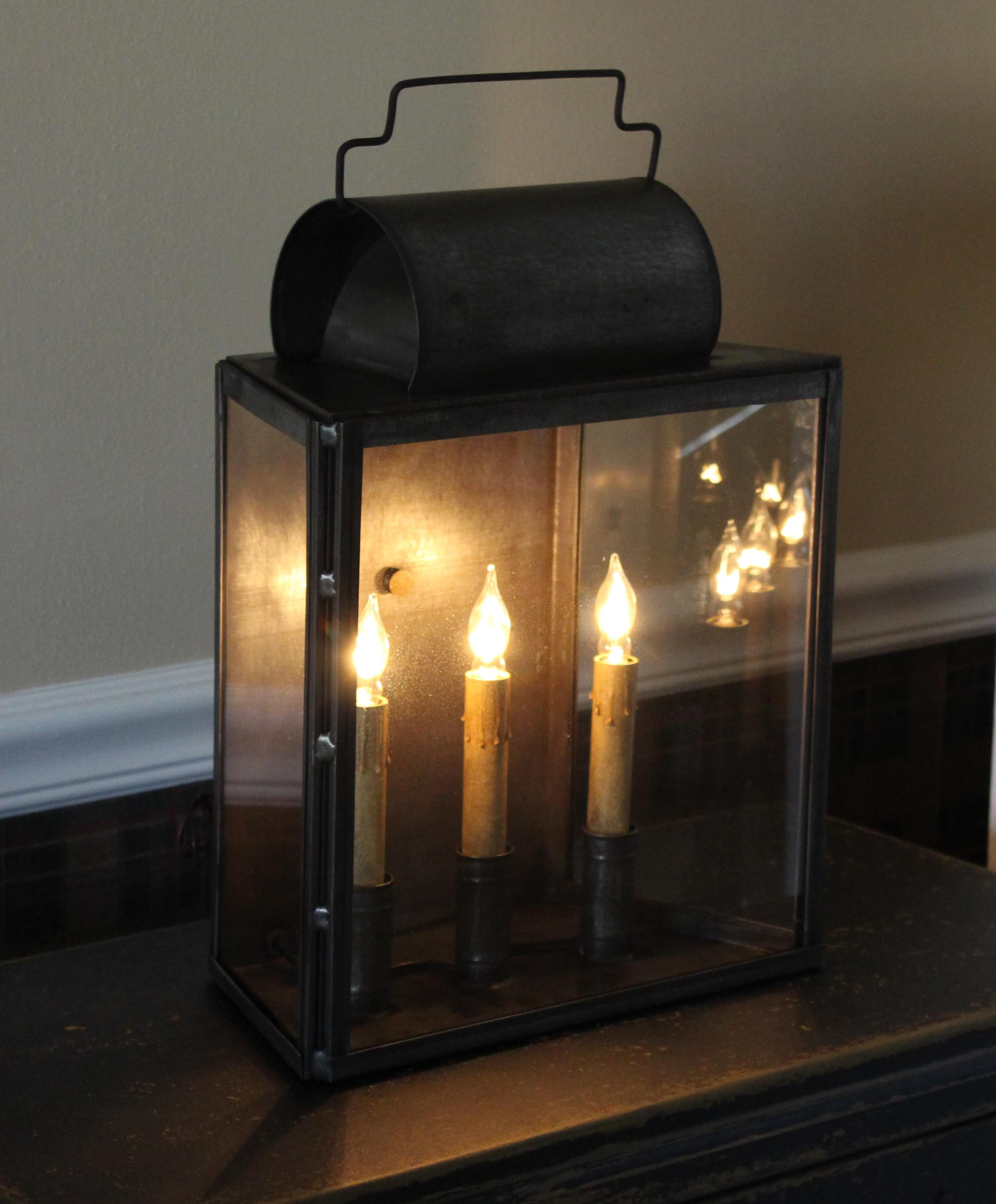Lea Three Lighted Lantern L 107 Carriage House Lighting Tinware